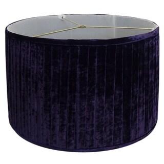 Pleated Purple Velvet Lamp Shade