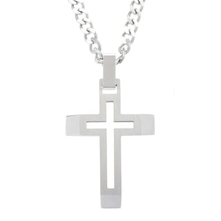 Stainless Steel Open Cross Necklace