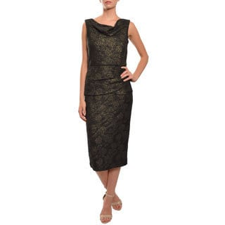 Mark & James by Badgley Mischka Women's Stretch Brocade Evening Dress