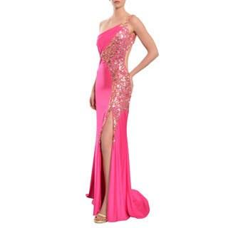 Mac Duggal Women's Sequin Embellished One Shoulder Gown Dress
