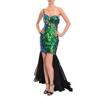 Mac Duggal Women's Rhinestone High-low Gown