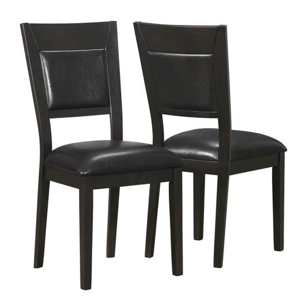 Cappuccino/ Brown Upholstered Side Chairs (Set of 2)