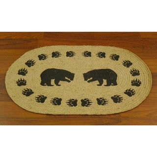 Bear Trail Jute Braided Welcome Mat (1'8 x 2'6)