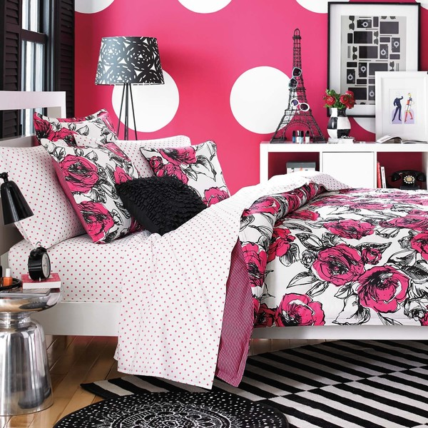 Teen Vogue Sketched Roses Cotton 3-piece Comforter Set