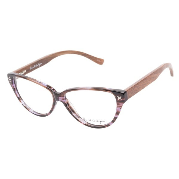 Derek Cardigan 7039 Lavender Brown Prescription Eyeglasses
