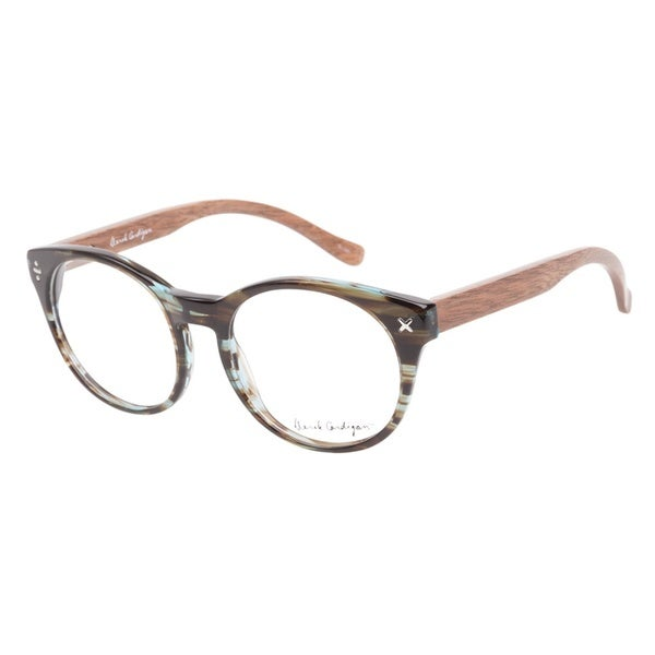Derek Cardigan 7040 Azure Brown Prescription Eyeglasses
