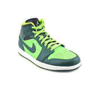 Jordan Men's 'Air Jordan 1 Mid ' Leather Athletic Shoe