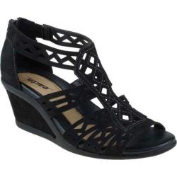 Women's Earth Petal Black Suede