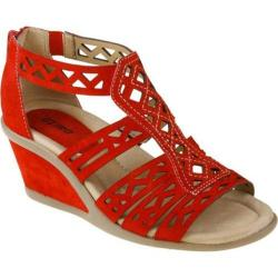 Women's Earth Petal Bright Red Suede