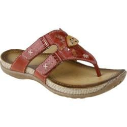 Women's Earth Sisal Regal Red Full Grain Leather