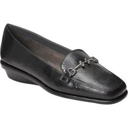 Women's A2 by Aerosoles Elaborate Loafer Black Faux Leather