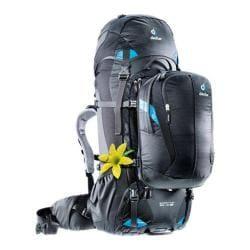 Women's Deuter Quantum 60 + 10 SL Travel Backpack Black/Turquoise