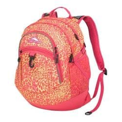 High Sierra Fat Boy Electric Leopard/Fuchsia Tablet Backpack