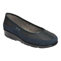 Women's Aerosoles Neutron Slip-On Dark Blue Mesh Combo
