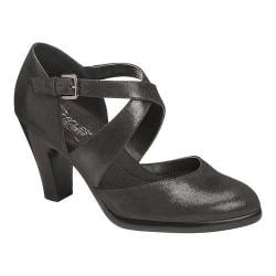 Women's Aerosoles Postage Strappy Heel Black Fabric