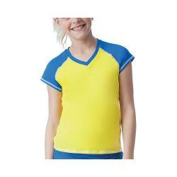 Girls' Fila Spirit Cap Sleeve Top Lemon Twist/Royal Spirit