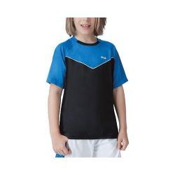 Boys' Fila Suit Up Crewneck Black/Imperial Blue/White
