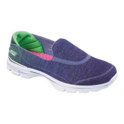 Women's Skechers GOwalk 3 Aura Slip On Purple/Green