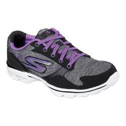 Women's Skechers GOwalk 3 Compete Sneaker Black/Purple