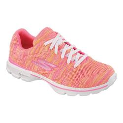 Women's Skechers GOwalk 3 Contest Sneaker Hot Pink/Lime