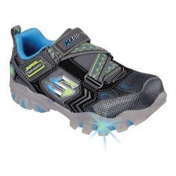 Boys' Skechers Magic Lites Street Lightz Switches Sneaker Charcoal/Blue