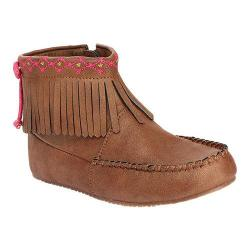 Girls' Hanna Andersson Erika Moccasin Bootie Bronze Synthetic