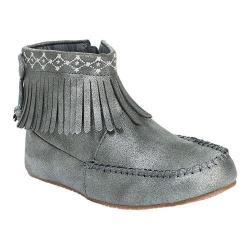 Girls' Hanna Andersson Erika Moccasin Bootie Silver Synthetic