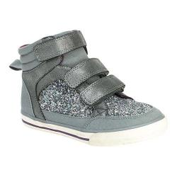 Girls' Hanna Andersson Sigrid High Top Sneaker Silver Fabric
