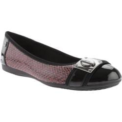 Women's Anne Klein If Only Ballet Flat Red/Black Multi Synthetic