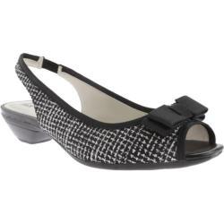 Women's Anne Klein Lashea Slingback Black-White/Black Tweed