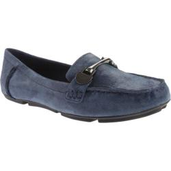 Women's Anne Klein Meg Loafer Navy Reptile