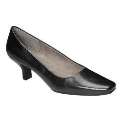 Women's A2 by Aerosoles Dimperial Black Faux Leather