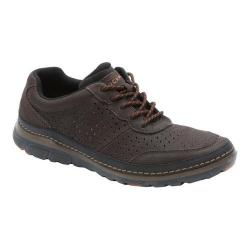 Men's Rockport Activflex Sport Perf Mudguard Dark Brown Leather