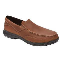 Men's Rockport City Play Two Slip On Dark Tan Leather