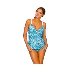 Women's Swim Systems Crossover Underwire Tankini Palm Springs