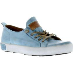Women's Blackstone JL21 Low Rise Sneaker Sky Blue Full Grain Leather