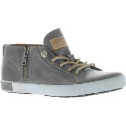 Women's Blackstone JL24 Low Rise Zipper Sneaker Charcoal Full Grain Leather