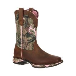 Women's Durango Boot DRD0051 10in Camo Lady Rebel Distressed Brown/Camo Leather Nylon
