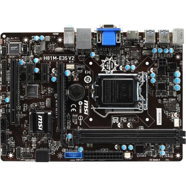 MSI H81M-E35 V2 Desktop Motherboard - Intel H81 Chipset - Socket H3 L