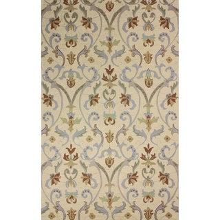 nuLOOM Hand-hooked Persian Wool Ivory Rug (5' x 8')