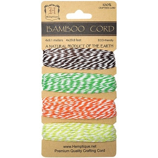 Bamboo Bakers Twine Carded Set 2 Ply 410'/Pkg-Blooming Field