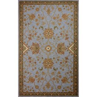 nuLOOM Hand-hooked Persian Wool Light Blue Rug (5' x 8')