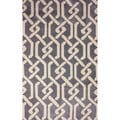 nuLOOM Hand-tufted Chain Trellis Synthetics Grey Rug (5' x 8')