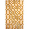 nuLOOM Hand-tufted Chain Trellis Synthetics Gold Rug (5' x 8')
