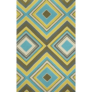 nuLOOM Hand-hooked Outdoor Synthetics Multi Rug (5' x 8')