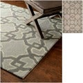 nuLOOM Hand-tufted Wool Grey Rug (5' x 8')