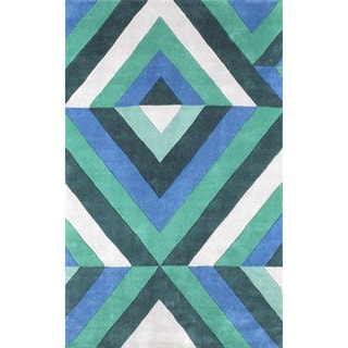 nuLOOM Hand-tufted Synthetics Green Rug (8' 6 x 11' 6)