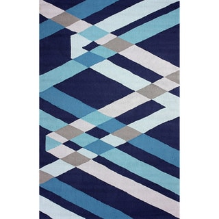 nuLOOM Hand-hooked Synthetics Blue Rug (7' 6 x 9' 6)
