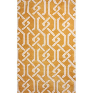 nuLOOM Hand-tufted Chain Trellis Synthetics Gold Rug (8' 6 x 11' 6)