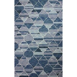 nuLOOM Hand-hooked Persian Trellis Wool Dark Blue Rug (8' 6 x 11' 6)